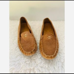 Coach Amber Classic Loafers Moccasins Beige Size 7